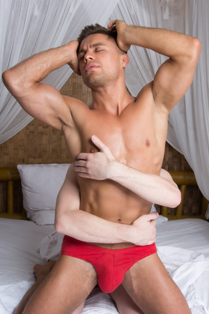 Photo pour Love and sex. Two sexy guys. - image libre de droit