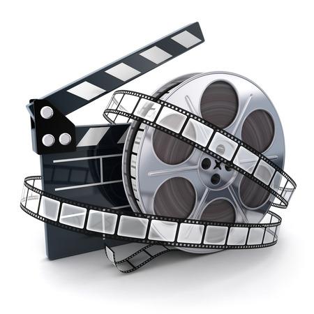 Foto de Film and clipboard symbol (done in 3d)  - Imagen libre de derechos