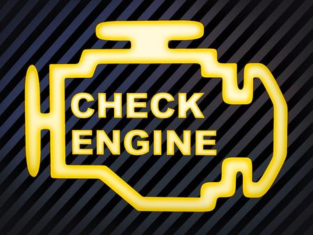 Sign car Check engine (computer generation image)