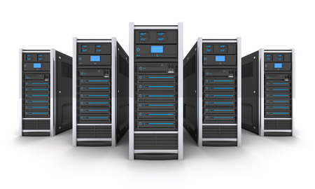 Foto de Five Server high-end, view front (done in 3d) - Imagen libre de derechos
