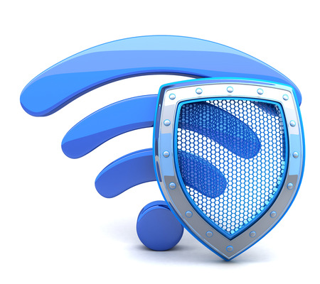 Photo pour Abstract wifi on white background (done in 3d) - image libre de droit