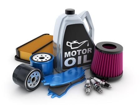 Foto de Expendable parts car (done in 3d) - Imagen libre de derechos
