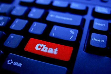 The Button CHAT on keyboard