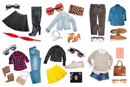 Foto de Outfits of clothes and woman accessories - Imagen libre de derechos