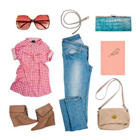 Photo for Outfit of clothes and woman accessories - Royalty Free Image