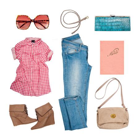 Photo pour Outfit of clothes and woman accessories - image libre de droit