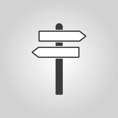 Illustration pour The signpost icon. Pointer symbol. Flat Vector illustration - image libre de droit