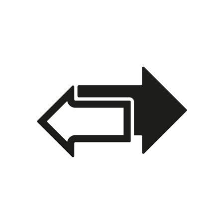 Ilustración de The left and right arrows icon. Arrows symbol. Flat Vector illustration - Imagen libre de derechos