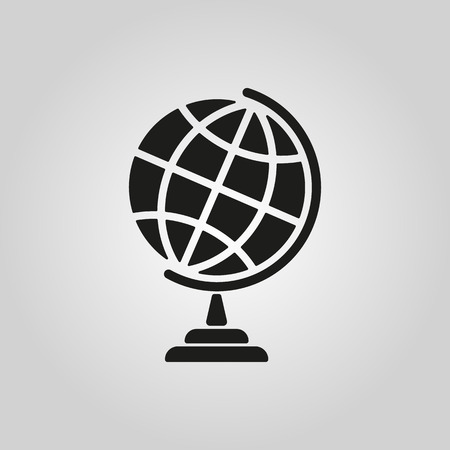Illustration for The globe icon. Globe symbol. Flat Vector illustration - Royalty Free Image