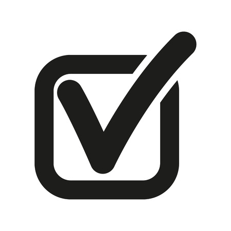 Illustration pour The check icon. Checkmark and checkbox, yes, voting symbol. Flat Vector illustration - image libre de droit