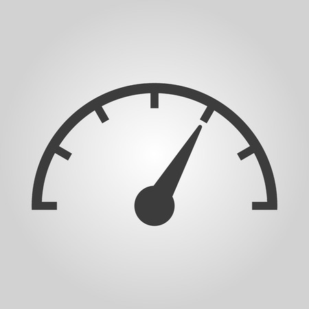 Illustration pour The tachometer, speedometer and indicator icon. Performance measurement symbol. Flat Vector illustration - image libre de droit