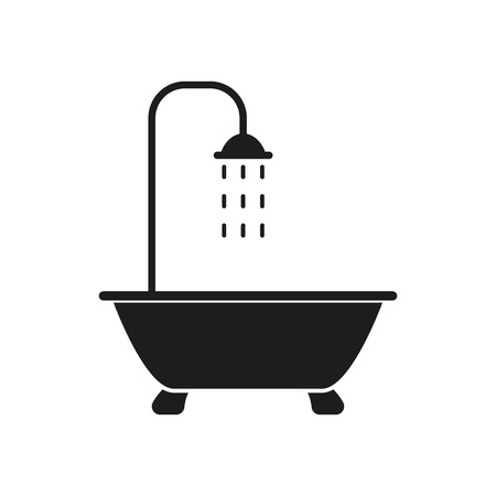 Ilustración de The shower icon. Bathroom symbol. Flat Vector illustration - Imagen libre de derechos
