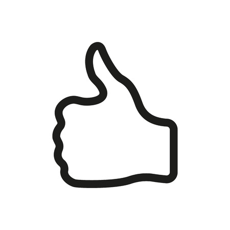 Illustration pour The thumb up icon. Like and yes, approve symbol. Flat Vector illustration - image libre de droit