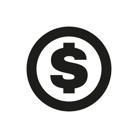 Illustration pour The dollar icon. Cash and money, wealth, payment symbol. Flat Vector illustration - image libre de droit