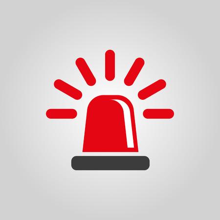 Illustration pour The flasher icon. Police and  ambulance, alarm, beacon symbol. Flat Vector illustration - image libre de droit