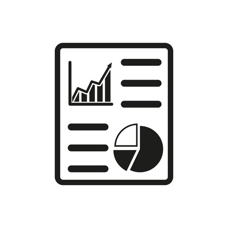Illustration pour The business report icon. Audit and analysis, document, plan symbol. Flat Vector illustration - image libre de droit