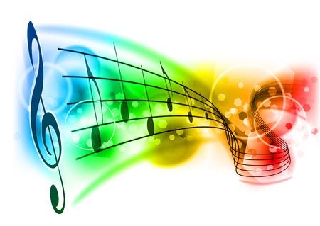 Illustration pour music background with color note - image libre de droit