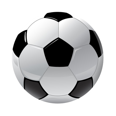 foot ball isolated on the white