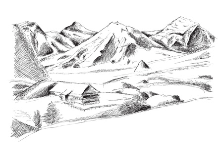Illustration pour mountain isolated on the white - image libre de droit