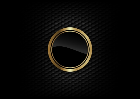 Illustration pour gold round on the dark background - image libre de droit