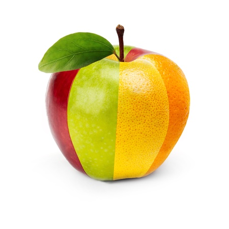 Photo pour An Apple composed by several fruits  - image libre de droit