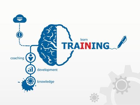 Illustration pour Vector training. Business vector concept for presentations and reports - image libre de droit