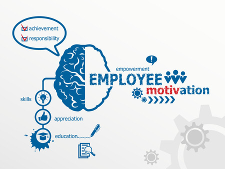 Illustration for Employee motivation concept. - Royalty Free Image