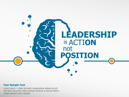 Ilustración de Inspirational motivational quote on brain background - Imagen libre de derechos