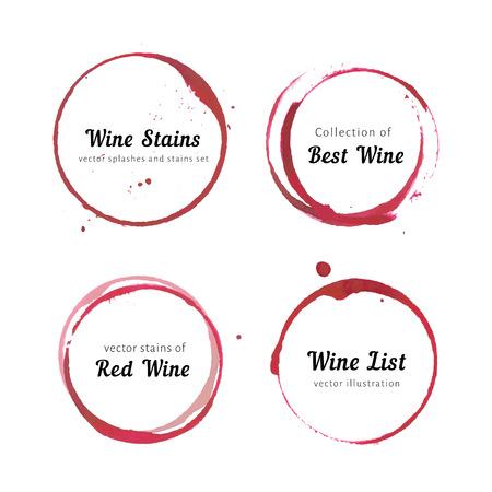 Ilustración de Wine stain circles - Imagen libre de derechos
