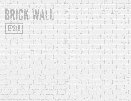 Illustration for White grunge brick wall. Vector illustration EPS10 - Royalty Free Image