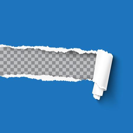 Ilustración de Torn paper realistic vector illustration - Imagen libre de derechos