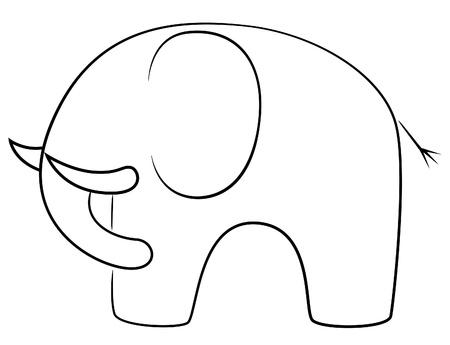 Black line elephant