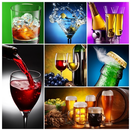 Collection of images of alcohol in different ways.