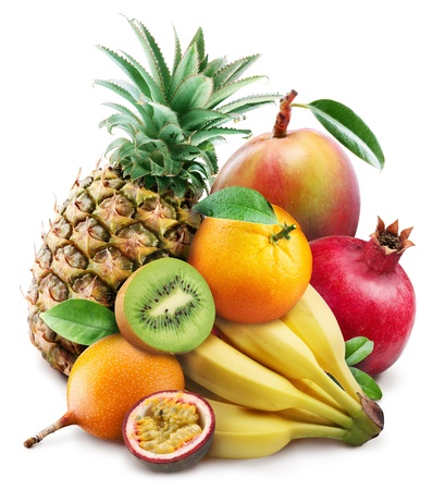 Photo for Exotic fruits on a white background  - Royalty Free Image