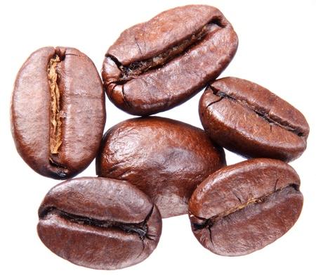 Foto de Coffee beans isolated on white background. - Imagen libre de derechos