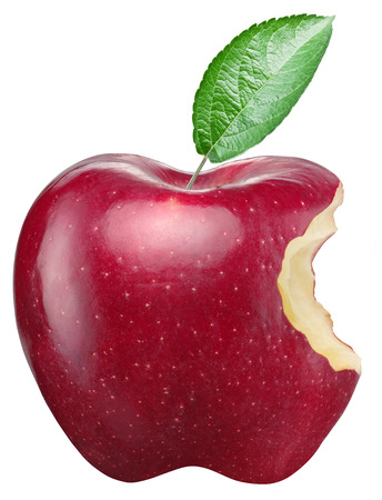 Photo for Red apple on a white background.  - Royalty Free Image