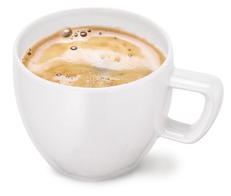 Photo pour Cup of coffee on a white background.  - image libre de droit