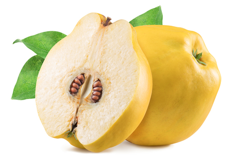 Photo for Apple-quince with leaf. File contains clipping path. - Royalty Free Image