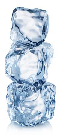 Foto de Ice cube pyramid. File contains clipping path. - Imagen libre de derechos