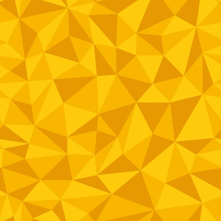 Illustration pour Geometric seamless pattern  from triangles. Yellow vector illustration. - image libre de droit