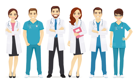 Illustration pour Team of doctors illustration. - image libre de droit