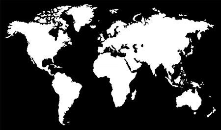 Illustration pour World map  black and white  - image libre de droit