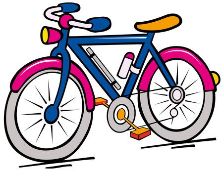 Illustration pour bike cartoon - image libre de droit