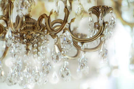 Photo for Vintage crystal chandelier details - Royalty Free Image