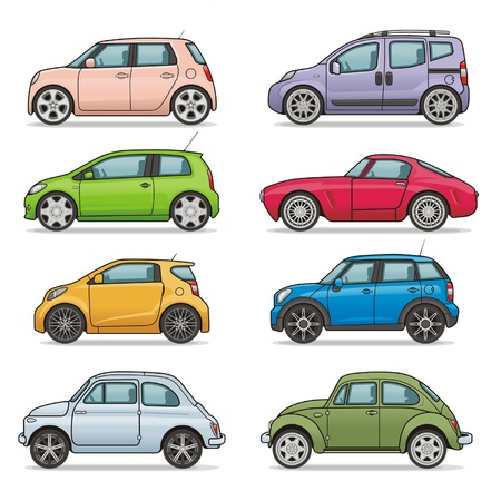 Photo pour car icon set - image libre de droit