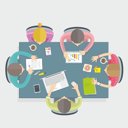 Ilustración de Business meeting - Imagen libre de derechos