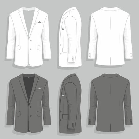 Illustration for mens suit - Royalty Free Image