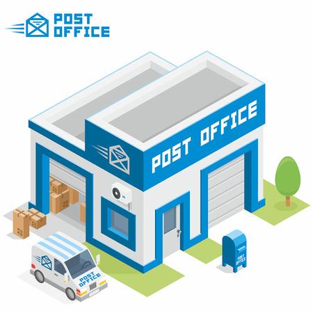 Illustration pour Post office building - image libre de droit