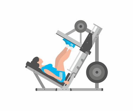 Illustration for Woman doing leg presses - Royalty Free Image