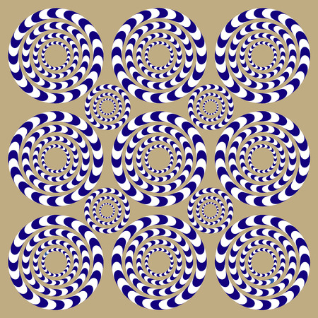 Illustration pour Spin Circles (Illusion). Optical Illusion. Optical illusion Spin Cycle. Optical illusion background pattern. Bright background with the optical illusion - image libre de droit
